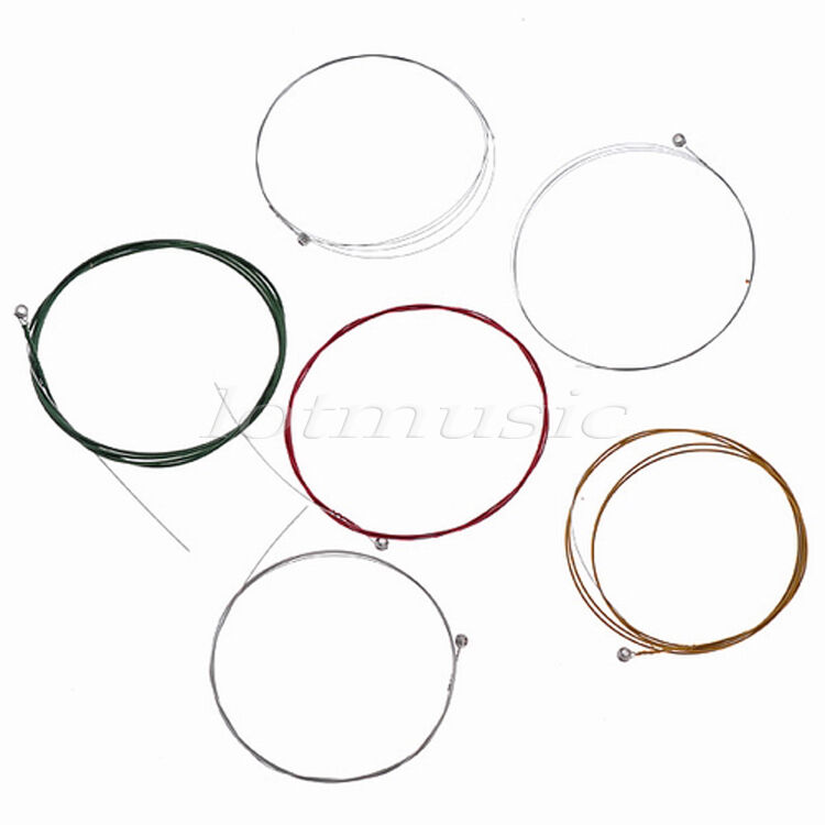 10 Sets of 6 Strings for Electric Guitar Parts Nickel