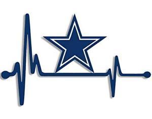 Download 4x6.5 inch Heartbeat Lifeline Dallas Star Die Cut Sticker ...