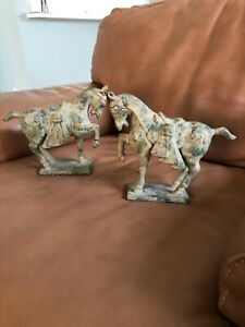 Chinese Tang Dynasty Iron Horse Sculptures - Set of 2 for Lord & Taylor