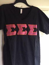 Tri Sigma Letters : sigma, letters, Alpha, Sigma, Shirt, White, Medium, Letters, Standard, American