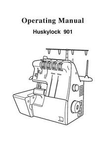 Husqvarna Viking Huskylock 901 Sewing Machine User Guide