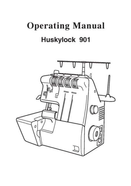 Husqvarna Viking Huskylock 901 Sewing Machine User Guide