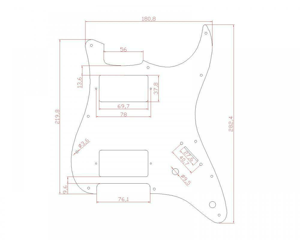 Aged White Pickguard HH (2 Humbucker)3 Ply Fits Fender