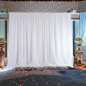 10ft large white drapes studio