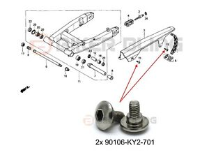 Honda CBR1100XX 1997-2007 90106-KY2-701 stainles steel