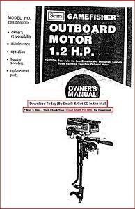 Sears Gamefisher 1.2HP 298.586130 Operator Maint