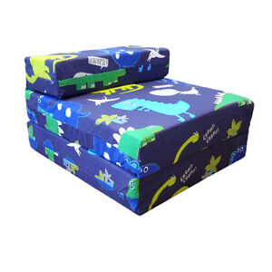 Image Is Loading Children 039 S Z Bed Fold Out Chair Dinosaurs
