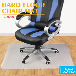 rolling chair mat for wood floors covers canadian tire 48x36 rectangle pvc protector hard floor home office details about