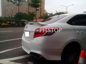 toyota yaris trd spoiler brand new camry hybrid sedan 4d vios 2013 2014 abs led rear image is loading