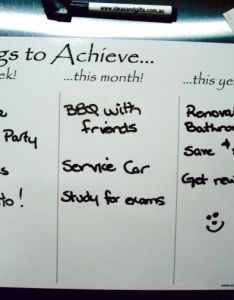 goal chart fridge magnet whiteboard weekly monthly yearly student planner  also rh ebay