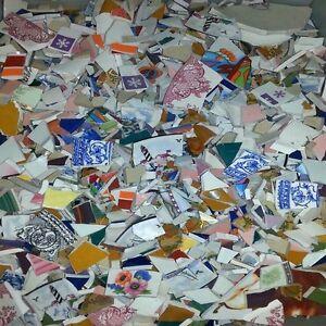Bulk 3 Pounds Beautiful Hand Cut Mega Mix Ceramic Mosaic