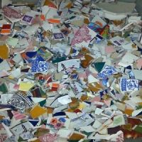 Bulk 3 Pounds Beautiful Hand Cut Mega Mix Ceramic Mosaic