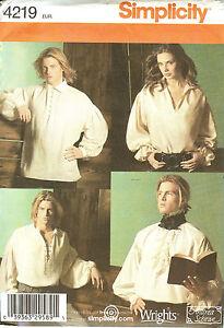 Renaissance Shirt Pattern : renaissance, shirt, pattern, Simplicity, Sewing, Pattern, Unisex, Renaissance, Shirt, Costume, 39363295891