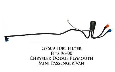 G7609 In-Line Fuel Filter Fits 96-00 Chrysler Dodge
