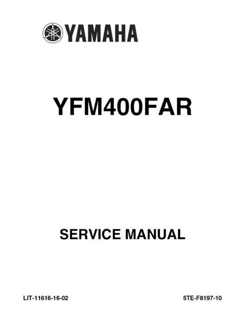 Yamaha ATV service workshop base and supplement manual