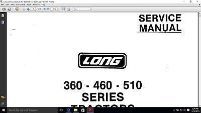 Long 360 460 510 2460 Series Tractor Service Repair Manual