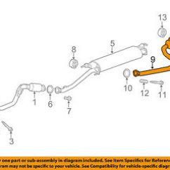 Toyota Rav4 Exhaust System Diagram Murray Lawn Mower Carburetor Oem 16 18 2 5l L4 Tail Pipe 1743036420 Ebay Image Is Loading