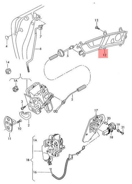 Genuine Inner Actuator Left AUDI A6 Allroad Quattro Avant