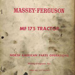 Massey Ferguson 175 Parts Diagram Aiphone Lef 3l Wiring Mf Tractor Manual 651 190 M91 Ebay Image Is Loading