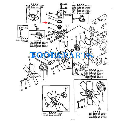 THERMOSTAT 600-421-6110 FITS FOR KOMATSU 2D94 4D94 3D94