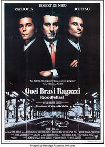 details about movie poster goodfellas 1990 italian 4 fogli 55 x77 vf 8 robert de niro