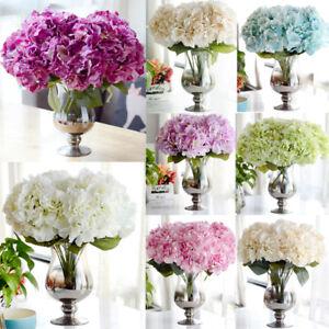 5 Kpfe Knstlich Hortensie Seide Blumengesteck Party
