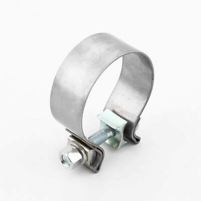 2 5 exhaust band clamp 2 1 2 inch stainless steel for downpipes ebay