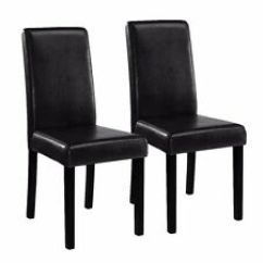 Black Parsons Chair X Rocker Gaming Instructions Dining Leather Bonded Set Of 2 Elegant Stylish Item Design Pu Contemporary Chairs Home Room
