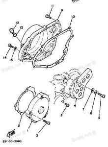 YAMAHA IT250 1981-1983 LEFT SIDE CRANKCASE COVER GASKET