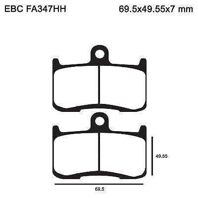 EBC FA347HH Replacement Brake Pads for Front Triumph