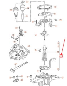 AUDI R8 42 Shift Mechanism For Automatic Transmission
