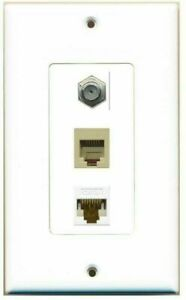 Rj45 Phone Jack : phone, DecorZ, Cable, Ethernet, Phone, Coupler, Plate