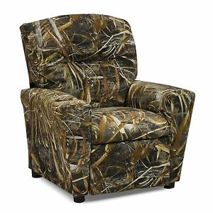 camo recliner chair patio covers christmas tree shop camouflage realtree max 4 childs new ebay image is loading