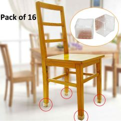 Hardwood Floor Chair Leg Protectors Swing With Stand Malaysia 16pcs Square Silicone Caps Feet Pads Table