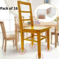Dining Room Chair Leg Covers Thick Carpet Mat 16pcs Square Silicone Caps Feet Pads Table Wood Floor Protector