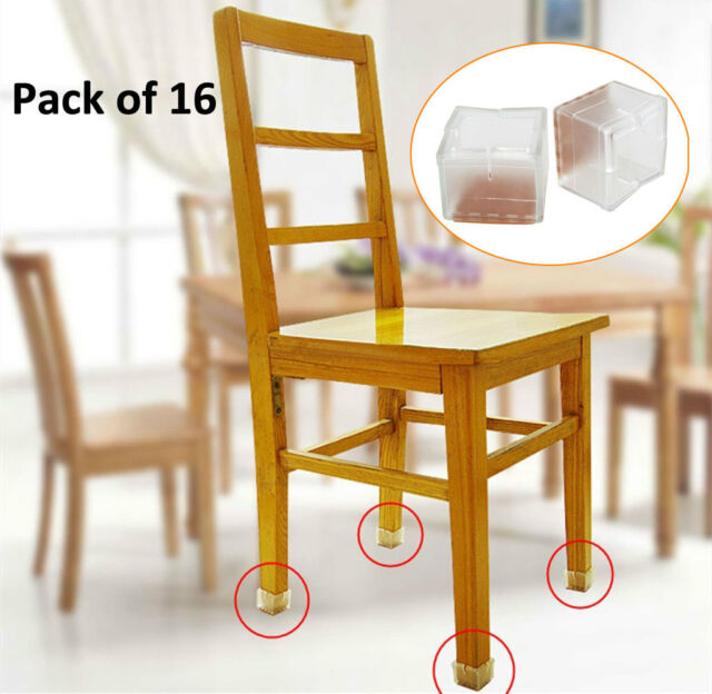 chair leg caps comfy for 1 year old 16pcs square silicone feet pads table covers wood floor protector