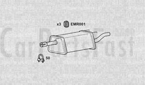 Exhaust Rear Box Vauxhall Combo 1.3 Diesel Van 09/2004 to