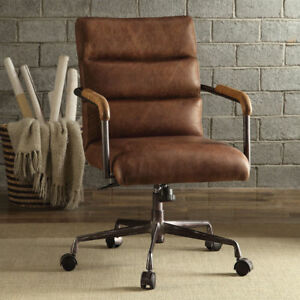 harith high back leather executive chair patio table and chairs walmart acme furniture office retro brown ebay stock photo