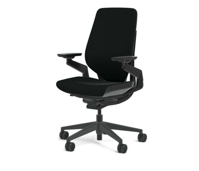 steelcase gesture chair bar ikea office cogent connect licorice fabric new adjustable shell black frame