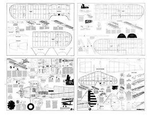 Stearman PT-17 Full Size Model Airplane Kit Printed Plans