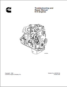 Cummins K19 Engine Series Troubleshooting & Repair Manual