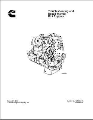 Cummins K19 Engine Series Troubleshooting & Repair Manual