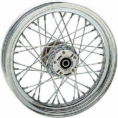 Stainless Steel 40 Spoke Front Wheel 16 x 3.5 Dual Disc