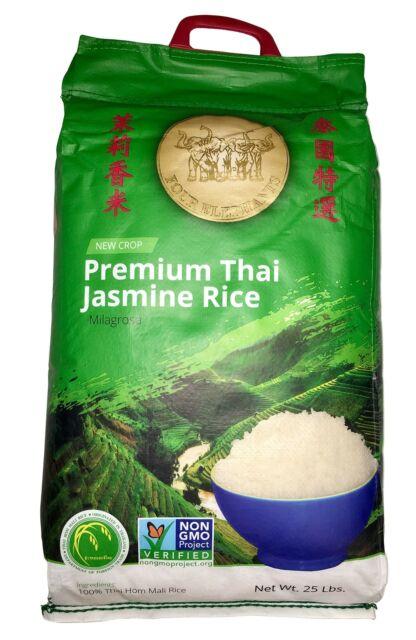 Premium Thai Jasmine Rice   Certified Non-GMO   25 lbs 25 ...