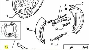 Fiat Bravo & Brava Rear Brake Shoes Spring Adjusters