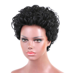 Natural Afro Curly Wig Short Human Hair Wig For African American