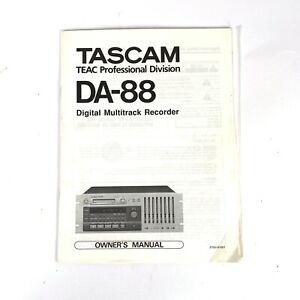 Owner's Manual Tascam SY-88 SY88 for DA-88 Original (PR
