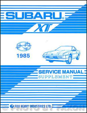 1985 Subaru XT Wiring Diagram Electrical Service Manual | eBay