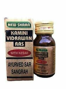 Ayurvedic New Shama Kamini Vidrawan Ras 10gm for Strength ...