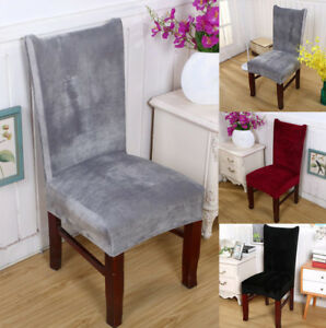 living room chair seat covers furniture layouts stretch fox pile fabric dining wedding kitchen home short image is loading